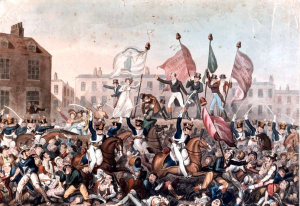 The Peterloo Massacre - not a template to follow (image courtesy of Nefarioussenator on flickr creative commons)