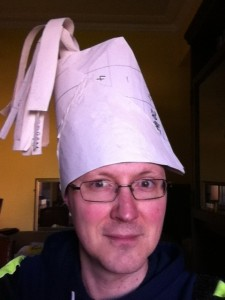 Write it big enough and your plot template can also provide a handy hat.