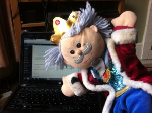 Working with my usual colleague His Majesty King Glove Puppet is not as rewarding as working with real people