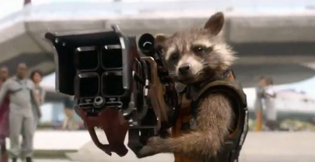 A raccoon with a gun - the film summed up in one absurd image
