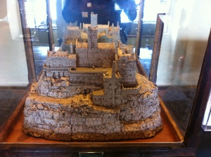 A butler at St Michael's Mount in Cornwall made this in his spare time - a scale model of the Mount made from champagne corks. How cool is that?