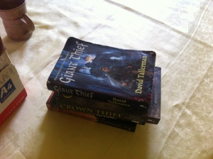 Just some of the books I accumulated at FantasyCon