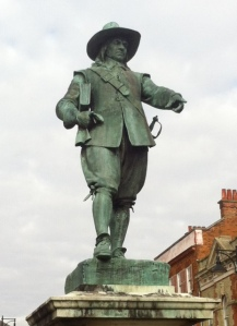 Statue of Cromwell in St IVes, Cambridge - not a dude you want to mess with