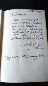 Complete with inscription, written 100 years after its supposed date.