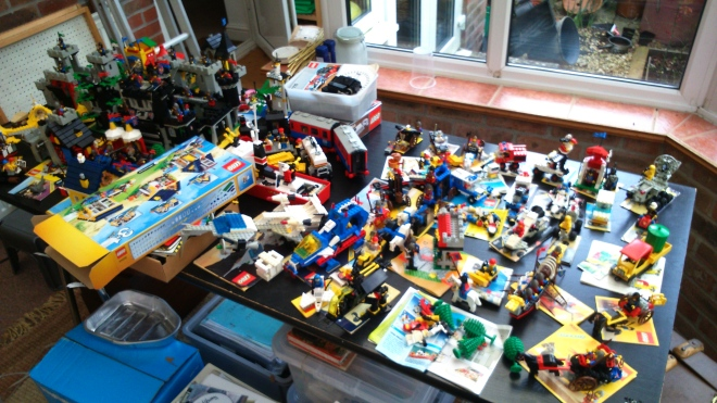Not story inspiration but I made all my old Lego! And half my brother's! So much fun.