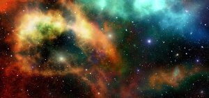 Stars floating in space.